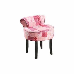 strauss innovation patchwork hocker mit lehne rosa gemustert. Black Bedroom Furniture Sets. Home Design Ideas