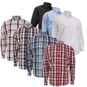 Pierre Cardin Herren Langarm Hemd versch. Designs Karo Unifarben Shirt