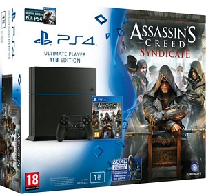 Sony PlayStation 4 (PS4) 1TB + Assassin's Creed: Syndicate + Watch Dogs