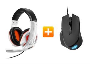 Sharkoon Rush ER1 – Gaming Stereo Headset + Sharkoon SHARK Force Gaming Maus
