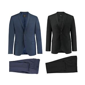 s.Oliver Herren Anzug zweiteilig Cosimo/ Cosimo Flex Slim Fit Blau Schwarz