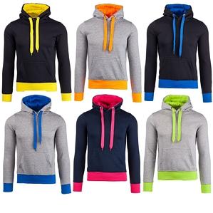 Stegol Kapuzenpullover Sweatjacke Hoodie Langarmshirt Kontrast Sweatshirt 1A1