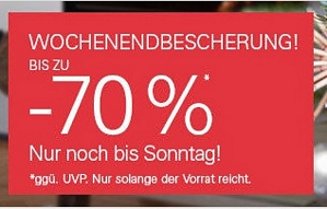 Ebay Wochenendbescherung mit bis zu 70 Prozent Rabatt (nur bis Sonntag Abend)