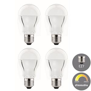 4er Set Paulmann LED Premium Lampe E27 7W Warmdimmbar von Warmweiß